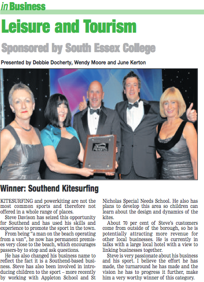 Southend business awards Leisure and Tourism winner 2013