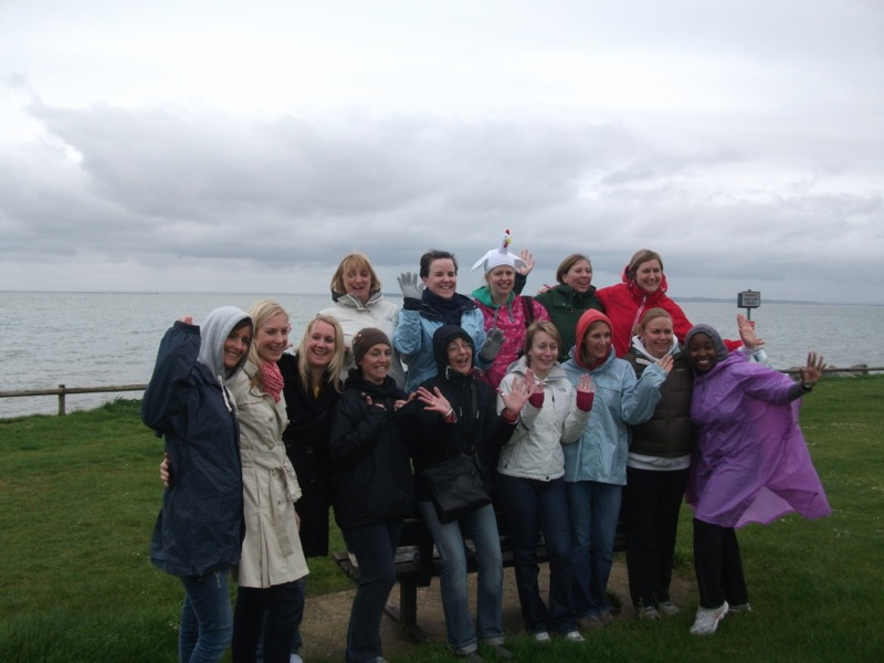 Nicola's Hen Party on a Powerkite Taster